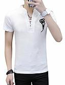 お買い得  メンズTシャツ&タンクトップ-男性用 Tシャツ ラウンドネック ソリッド / 半袖