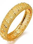 baratos Lingerie Feminina-Mulheres Escultura Bracelete Pulseiras Algema - Chapeado Dourado Étnico Pulseiras Dourado Para Festa Presente