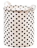 זול כובעים אופנתיים-כותנה / polyster עגול Cute בית אִרגוּן, 1pc תיק וסל כביסה