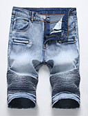 cheap Men's Pants & Shorts-Men's Jeans / Shorts Pants - Solid Colored Ruched