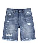 זול טרנינגים וקפוצ'ונים לגברים-בגדי ריקוד גברים מידות גדולות כותנה / פשתן ג'ינסים מכנסיים אחיד