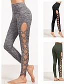 tanie Kombinezony damskie-Damskie Rozcięcia Spodnie do yogi - Black, Army Green, Grey Sport Spandeks Rajstopy rowerowe / Getry Bieganie, Fitness Odzież sportowa Oddychalność, Wygodny Elastyczny / a
