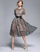povoljno Ženske haljine-Žene Vintage / Sofisticirano A kroj / Swing kroj Haljina - Vezeno, Cvjetni print Midi