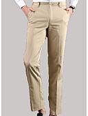 tanie Męskie spodnie i szorty-Męskie Szczupła Typu Chino Spodnie Jendolity kolor