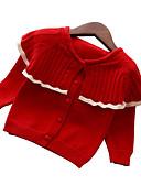 halpa Tyttöjen mekot-Lapset Tyttöjen Perus Joulu Päivittäin Yhtenäinen Pitkähihainen Normaali Villapaita ja neuletakki Punastuvan vaaleanpunainen