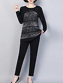 povoljno Ženske hlače-Žene Osnovni / Ulični šik Set - Geometrijski oblici, Print Hlače