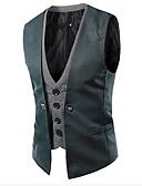 ieftine Blazer & Costume de Bărbați-Bărbați Tank Tops Peteci Alb negru Rosu L / Fără manșon / Muncă / Business Formal / Zvelt