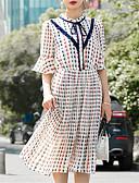 povoljno Ženske haljine-Žene Šifon Haljina Color block Midi