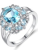 cheap Sexy Bodies-Women's Turquoise Crystal Cubic Zirconia Vintage Style Classic Band Ring Engagement Ring - Sterling Silver Vintage, Elegant Jewelry Turquoise For Wedding Engagement Ceremony 6 / 7 / 8 / 9