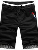 abordables Vestidos de Novia-Hombre Delgado Chinos / Shorts Pantalones - Un Color Negro