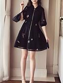 povoljno Ženske haljine-Žene Izlasci A kroj Haljina Ruska kragna Mini