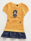 baratos Suéteres & Cardigans para Meninas-Infantil Bébé Para Meninas Activo Estampado Manga Curta Algodão Suéter & Cardigan Laranja