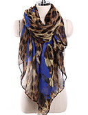 cheap Women's Scarves-Women's Basic / Holiday Rectangle - Leopard Mesh