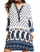 cheap Women's Dresses-women's shift dress above knee v neck