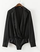 Недорогие Боди-Жен. Bodysuit Глубокий V-образный вырез Классический Однотонный