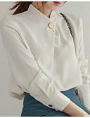 hesapli Gömlek-Kadın's Gömlek Yaka Gömlek Solid Dışarı Çıkma Beyaz