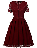 cheap Women's Dresses-Women's Sheath Dress - Solid Colored Lace