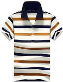 cheap Men's Ties & Bow Ties-Men's Basic Cotton Polo - Striped Print Shirt Collar / Short Sleeve