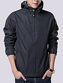 cheap Men's Shirts-Men's Jacket - Solid Colored Hooded / Long Sleeve