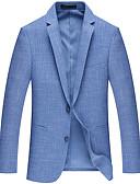 זול בלייזרים וחליפות לגברים-עבודה של גברים בלייזר - מוצק בצבע צוואר