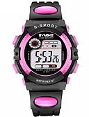 hesapli Çocuk Saatleri-SYNOKE Kadın's Spor Saat Dijital saat Dijital Kapitoneli PU Deri Siyah 30 m Su Resisdansı Takvim Kronograf Dijital Moda - Kırmzı Mavi Pembe / Çift Zaman Bölmeli / Gece Parlayan