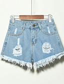 cheap Shorts-Women's Plus Size Daily Shorts Pants - Solid Colored Black Gray Light Blue XXXXL XXXXXL XXXXXXL