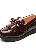 ieftine Pantaloni Bărbați si Pantaloni Scurți-Băieți / Fete Pantofi PU Primăvara & toamnă Confortabili Mocasini & Balerini pentru Negru / Vișiniu