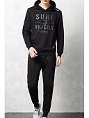 ieftine Maieu & Tricouri Bărbați-Bărbați De Bază activewear Set Scrisă