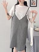 povoljno Majica s rukavima-Žene Izlasci Širok kroj Shift Haljina S naramenicama Do koljena