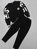 povoljno Hlače i tajice za djevojčice-Djeca Djevojčice Jednobojni / Print Dugih rukava Komplet odjeće
