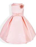 זול שמלות לבנות-שמלה מידי ללא שרוולים גב חשוף / פפיון אחיד עלה טרופי Party / חגים וינטאג' / מתוק בנות ילדים / כותנה