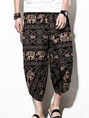 povoljno Muške duge i kratke hlače-Muškarci Kinezerije Chinos Hlače - Geometrijski oblici Visoki struk Braon
