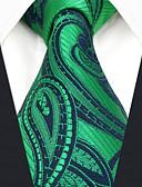 זול עניבות ועניבות פרפר לגברים-עניבת צווארון - קולור בלוק / פייסלי / סרוג מסיבה / עבודה בגדי ריקוד גברים