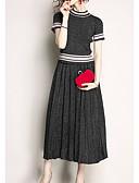 ieftine Costum Damă Două Bucăți-Pentru femei Set - Dungi, Fustă