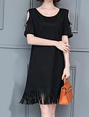 povoljno Maxi haljine-Žene Izlasci Širok kroj Majica Haljina U izrez Do koljena