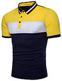 povoljno Muške polo majice-Polo Muškarci - Osnovni Dnevno Color block Kolaž