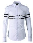 זול חולצות לגברים-אחיד / פסים חולצה - בגדי ריקוד גברים דפוס