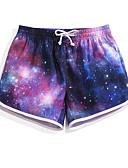זול פיג'מות-בגדי ריקוד נשים מכנסי שורט בגדי ים קל במיוחד (UL), ייבוש מהיר, נושם פולי בגדי ים ביגוד חוף מכנסי גלישה / תחתיות כוכבים גלישה / חוף / ספורט ימי