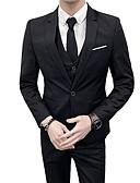 abordables Americanas y Trajes de Hombre-trajes de hombre-cuello de camisa de color sólido