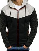 povoljno Muške majice i potkošulje-Muškarci Dugih rukava Slim Hoodie Color block S kapuljačom