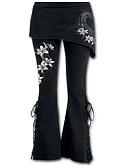tanie Sukienki-Damskie Wyrafinowany styl Boot-cut Spodnie - Solidne kolory Biały