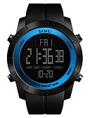 cheap Quartz Watches-SKMEI Men's Sport Watch Digital Watch Digital 50 m Water Resistant / Water Proof Calendar / date / day Stopwatch PU Band Digital Luxury Casual Black - Red Green Blue / Noctilucent