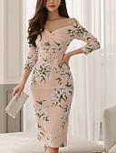 ieftine Rochii de Damă-Pentru femei Elegant Zvelt Pantaloni - Geometric Floarea Soarelui, Crăpătură / Imprimeu Roz Îmbujorat / Fără Bretele