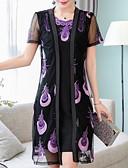 baratos Vestidos de Mulher-Mulheres Básico Evasê Vestido Altura dos Joelhos