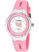 cheap Sport Watches-SYNOKE Men's Women's Sport Watch Digital Watch Japanese Japanese Quartz 50 m Water Resistant / Water Proof Cute Large Dial PU Band Analog Fashion Black / Blue / Pink - Purple Blue Pink