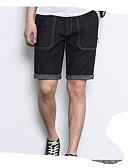 ieftine Pantaloni Bărbați si Pantaloni Scurți-Bărbați De Bază Pantaloni Chinos / Pantaloni Scurți Pantaloni Mată