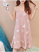 cheap Robes & Sleepwear-Women's Cotton Deep U Teddy Pajamas - Pleated, Solid Colored