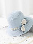 abordables Sombreros de mujer-Mujer Sombrero de Paja - Básico / Vacaciones Bloques
