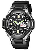 cheap Sport Watches-SYNOKE Men's Sport Watch / Digital Watch Calendar / date / day / Chronograph / Water Resistant / Water Proof PU Band Fashion Black / Stopwatch / Noctilucent