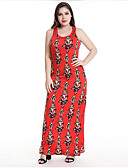 cheap Plus Size Dresses-Women's Going out Slim Sheath Dress - Floral / Geometric High Waist Maxi U Neck